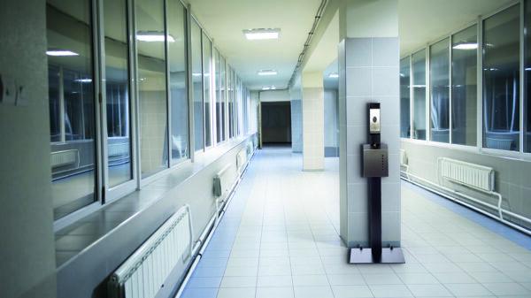 Hygienestation in öffentlichem Raum