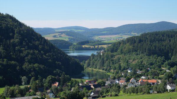 Blick auf den Naturpark Diemelsee