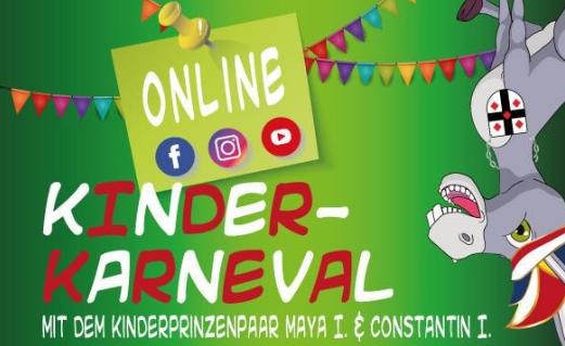 Grafik Online-Kinder-Karneval